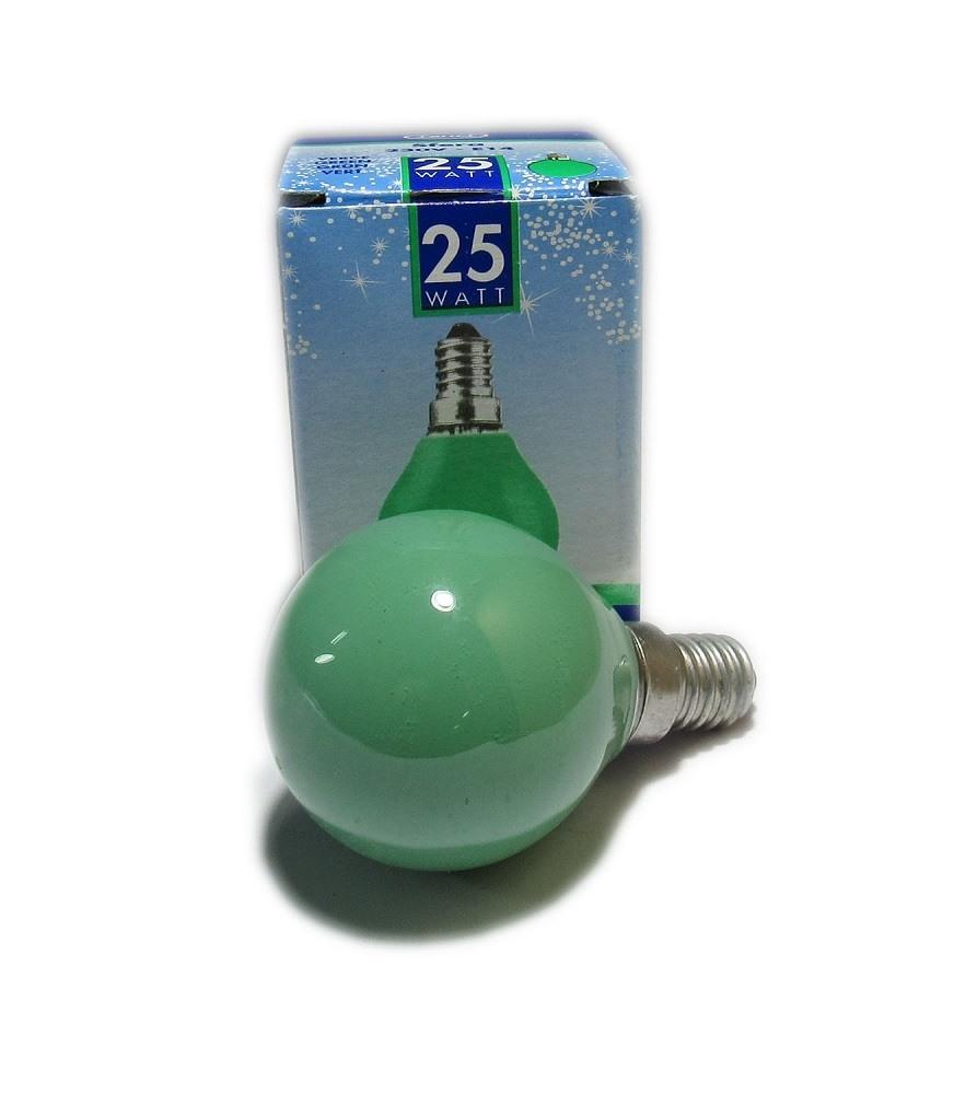 Lampadina colorata ad incandescenza E14 25W Leuci Sfera ...